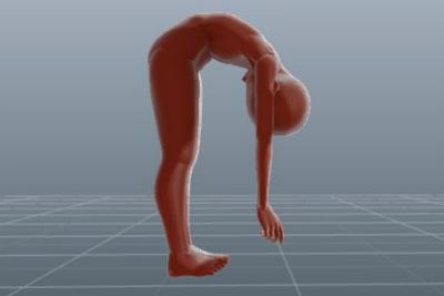 体前屈が硬い場合は、投げ出し座りを