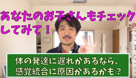 【YOUTUBE動画】体の発達遅れや不器用さが気になったら、「5つの感覚」をチェックしてみよう!
